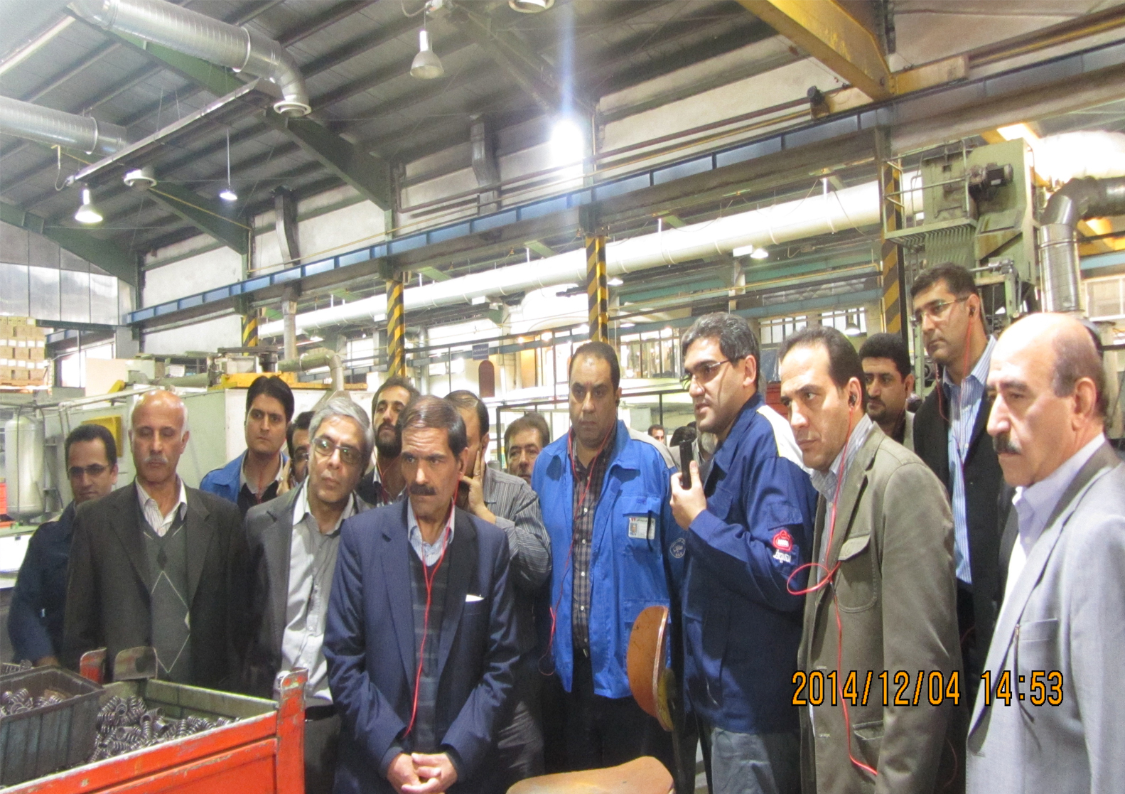 Visiting of Sapco's respectable General manager from Omidfanar factory